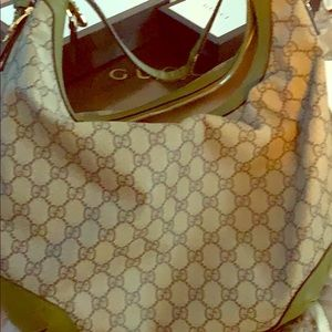 Authentic GUCCI Leather Large Hobo Bag